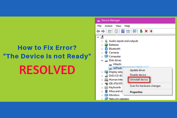 """"""" The Device is not ready"""" error[Fixed]"""