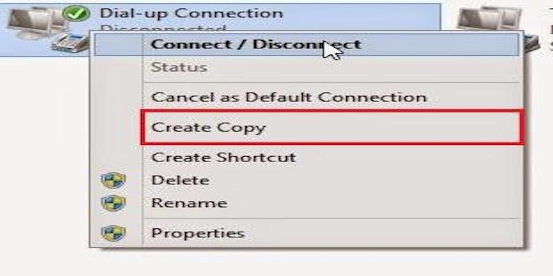 select Create Copy option