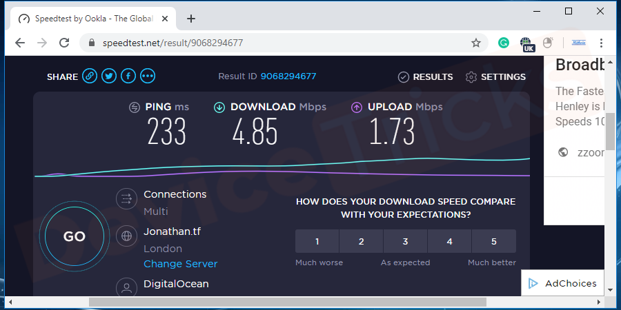 Check Internet Connection Speed