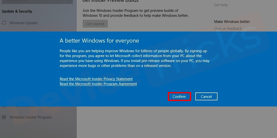 A confirmation window will be opened, just click onConfirmbutton.