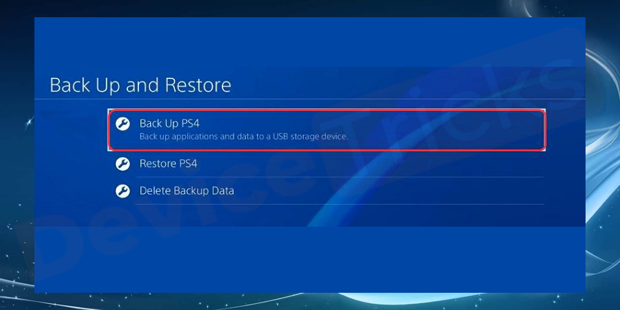 After completing the process, reinstall the game but before that restore the data from the backup.