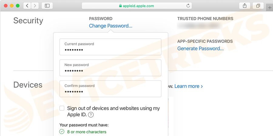 Change your password of Apple ID, so that no one will be accessible to your iCloud data and using other services like iMessage or iTunes from your device.