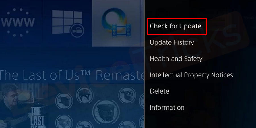Thereafter, you will get a few options on the right end of the screen, select 'Check for Updates'.