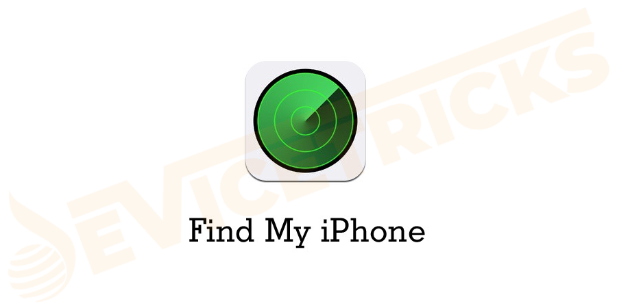 Now, on the next screen click find my iPhone.