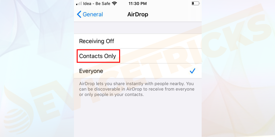 If you have selected the option Contacts Only then make sure that the other party's contact details should appear in your Contacts app.
