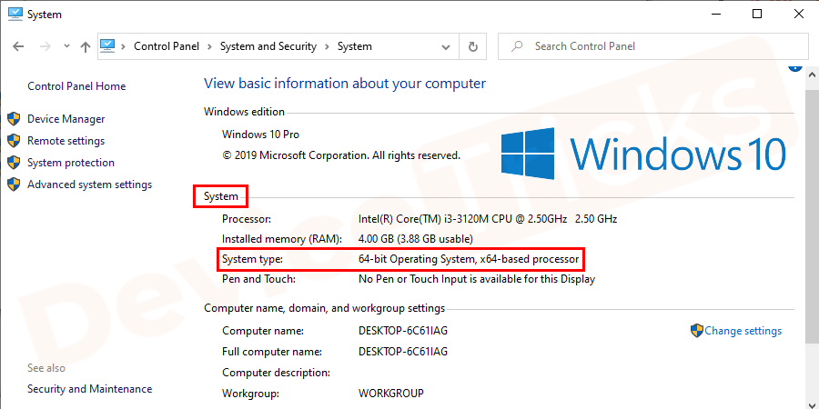 Navigate to the System window andcheck the System type entry to see if your operating system is 32-bit (x86-based) or 64-bit (x64-based).