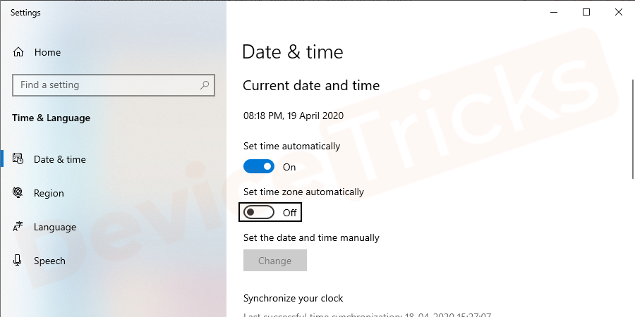Change date and time according to present time and click on the OK button.