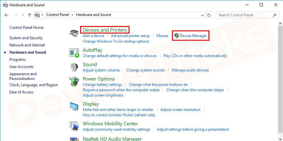 Then go to Device Manager. Click to open it.