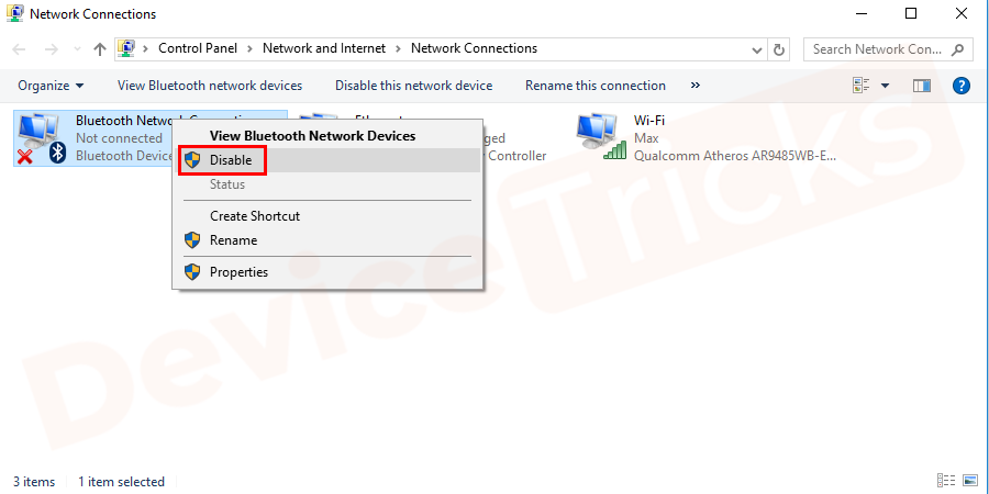Disable extra and unused connection