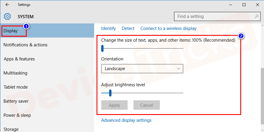 Next, go to display option. You will have multiple options to customize, choose as per your preferences.