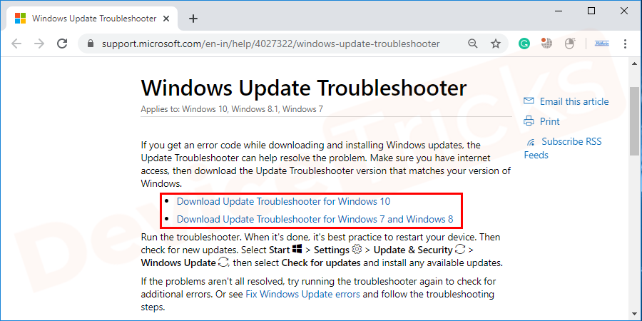 From Microsoft download the Windows Update troubleshooter.