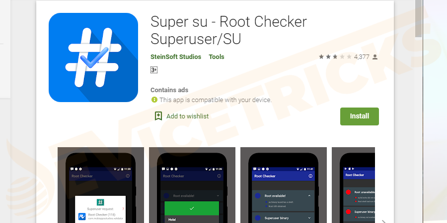 download and install the SuperSU from the Google Play Store.