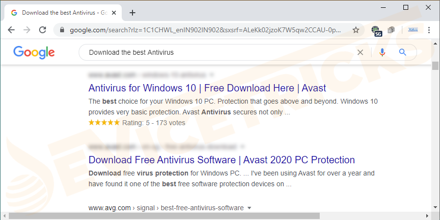 Go online and download antivirus from your browser search.