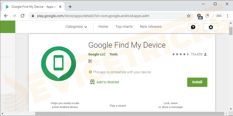 The first download find my device app from Google play store. And then Launch settings.
