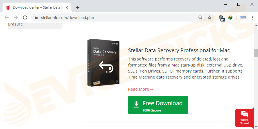 Download stellar phoenix Mac data recovery software and install it in your Mac.