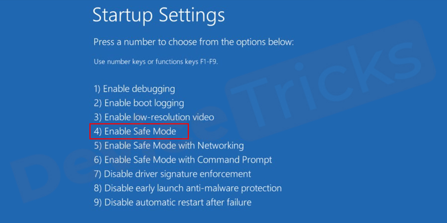 restart your PC in Safe Mode
