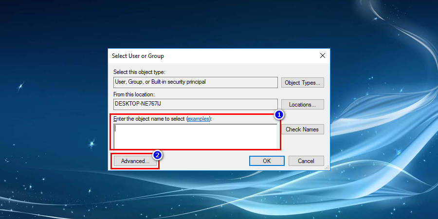 "Later eventually click on Advanced and simply add the user name in the ""Enter the object name to select"" field to fix Windows File Explorer keeps crashing"