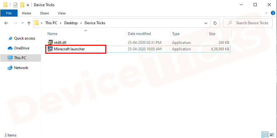 Go to the downloaded file location and rename the file as Minecraft launcher. Now, copy the renamed Minecraft Exe file and paste it in c: \ program files (x86) \ Minecraft folder and replace the existing minecraftlauncher file.