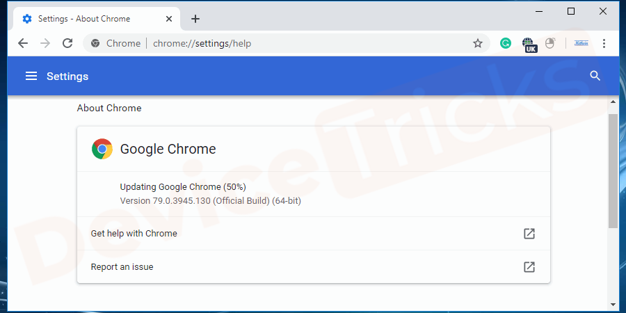 After restarting your chrome browser will update and apply the installations.