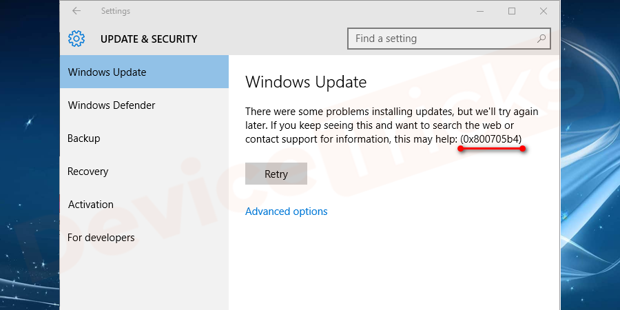 How to Fix Windows Update Error 0x800705b4 ?