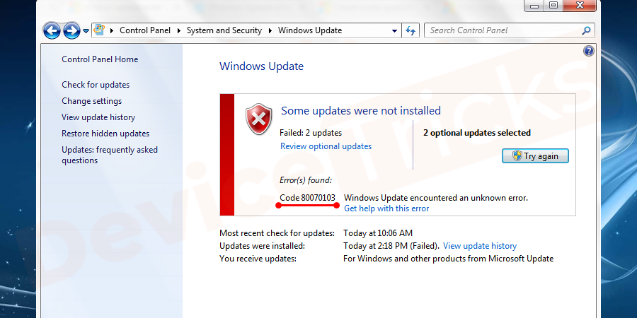 Why Code 80070103 Windows Update Error Occurs?