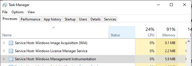 Encountering WmiPrvSE.exe high CPU usage