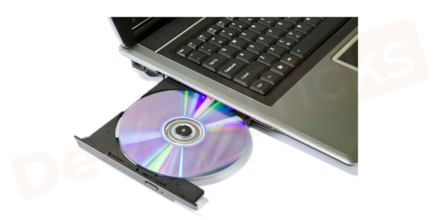 Insert the Microsoft Windows boot DVD into the CD/DVD drive.