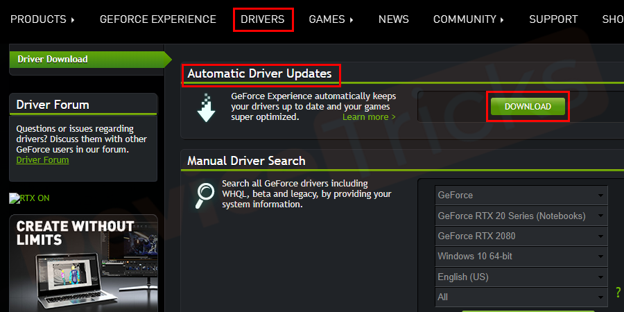 Soon, a new page will open and here you will find the Automatic Driver Updates section and beneath the same, Download button is located, click on it.
