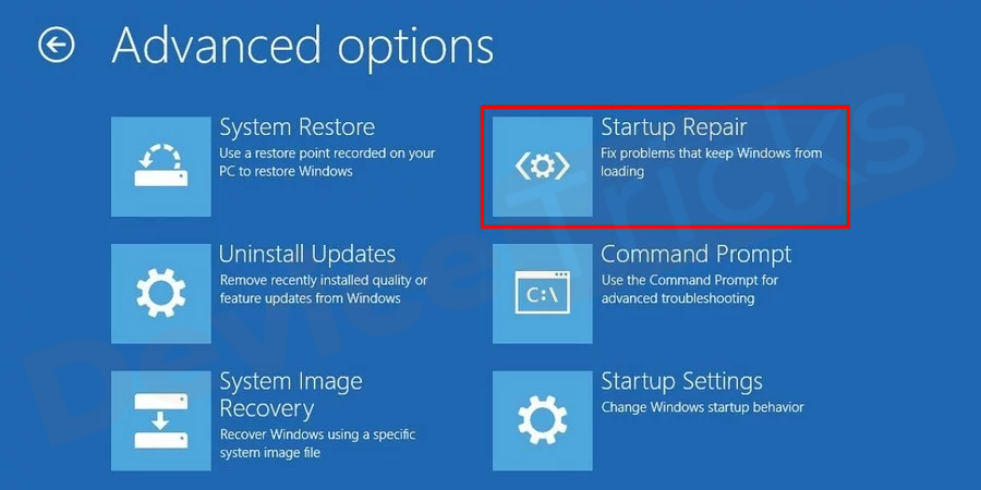 Windows start repair program can help in replacing the missing or corrupted file. To run a Windows repair program press F8 key several times during the booting process to enter into the Windows Recovery Environment (WinRE). Navigate to Troubleshoot > Advanced options> Startup Repair option.