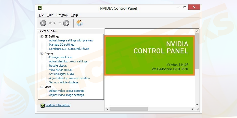 Go to the Start Menu and type Nvidia Control Panel and Open it.