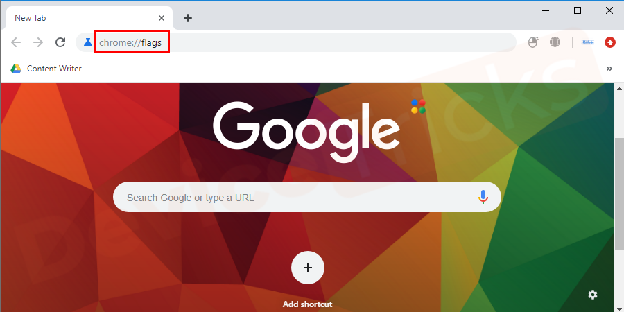 Open Google Chrome browser, start typing chrome://flags in the address bar and hit enter.