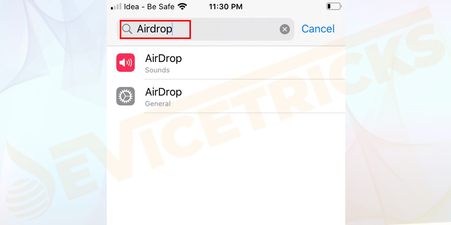 Open the Finder and type AirDrop.