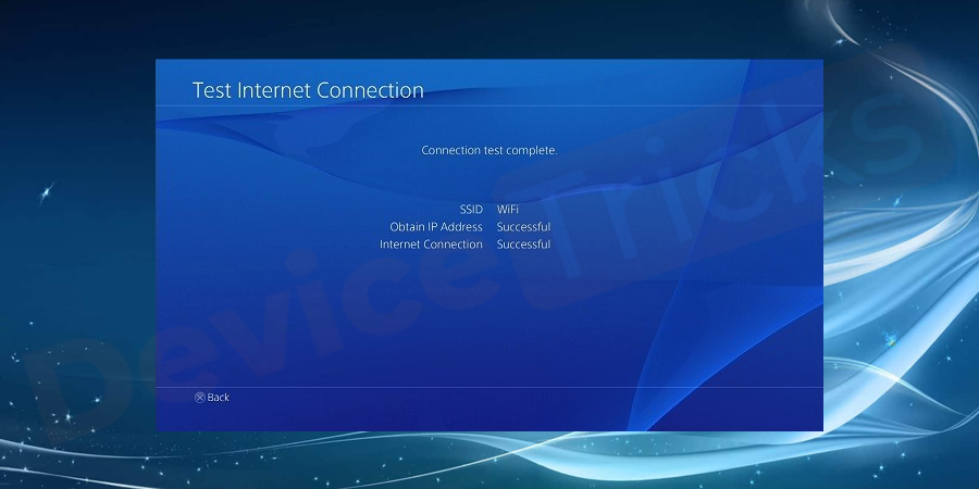 Once the internet settings updated, select Test internet connection.