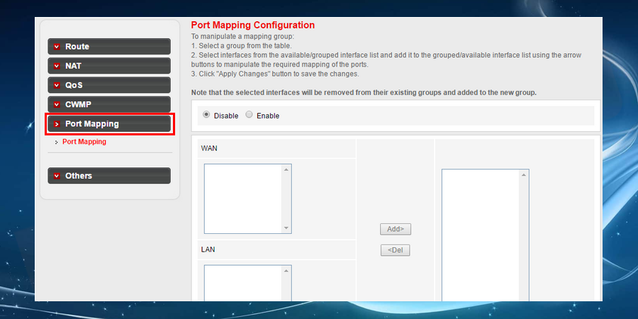 Now, look out for the section 'Port Forwarding or Port Mapping'.