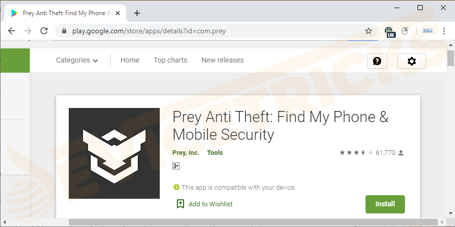 Prey anti-theft