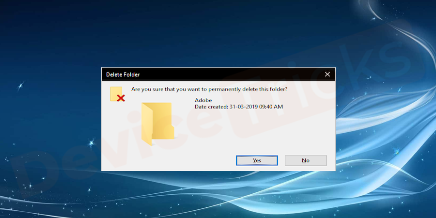 find the folder of the application which is causing issues and delete it.