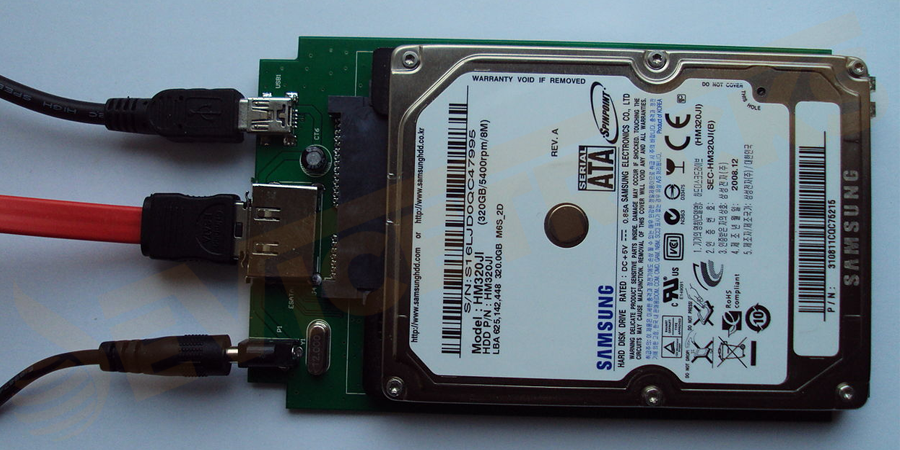 Remove the power cable of the hard disk not getting detected.