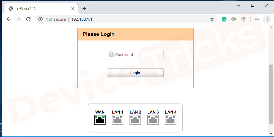 the Router login page will appear and here you will have to provide the username and password. Make sure to provide the correct credentials and after completing the same, click on the Login button
