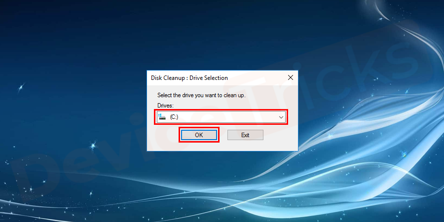 select the OS partition (C:) and press Enter