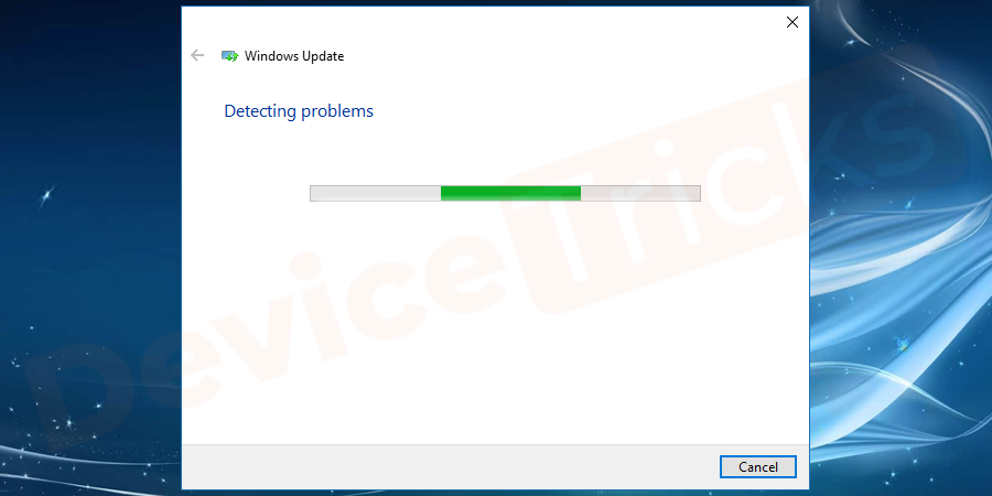 System will Startchecking for issues.