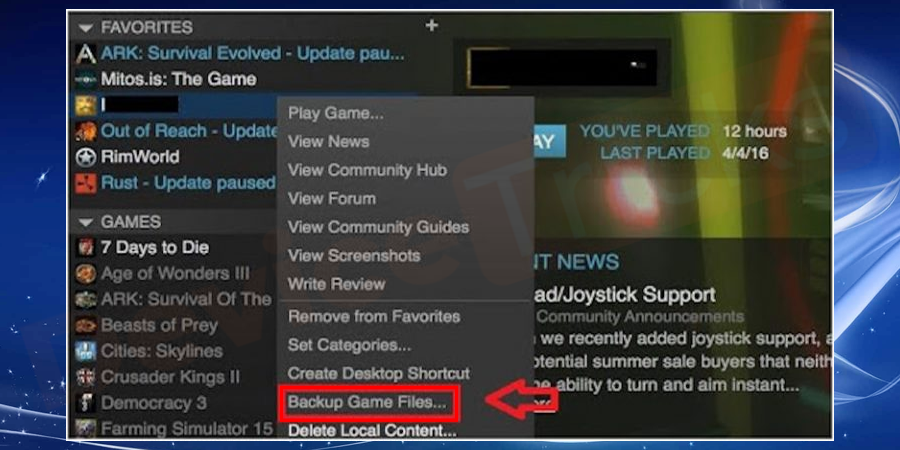 You can see all the games, right-click on the PUBG game and select backup game files from the drop-down list.