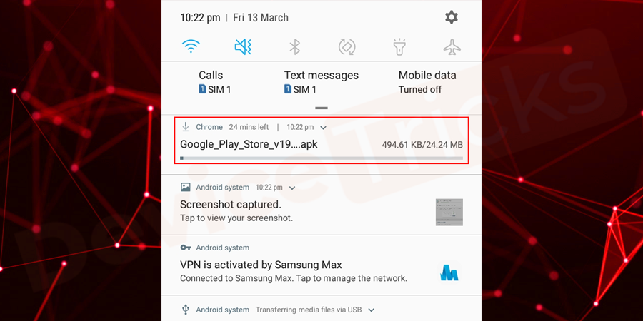 After the completion of the download process, go to the File Explorer and then tap on the downloaded file of Google Play Service.