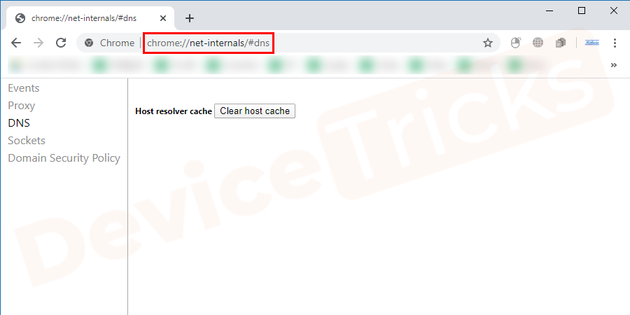 Open Google Chrome on your PC, click on the address bar, and type 'chrome://net-internals/#dns' and then press Enter.Soon, you will discover the features of the Networking which is listed at the top-left of the Chrome page.