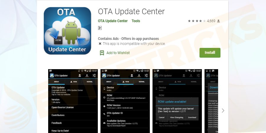 Unroot by installing an OTA update