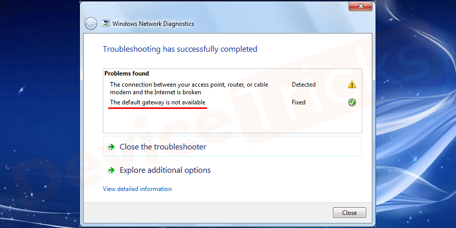 "What is ""The Default Gateway is Not Available"" Error?"