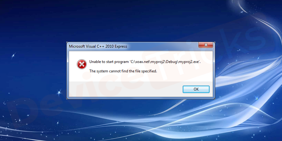 "What is ""The System cannot find the file specified"" error?"