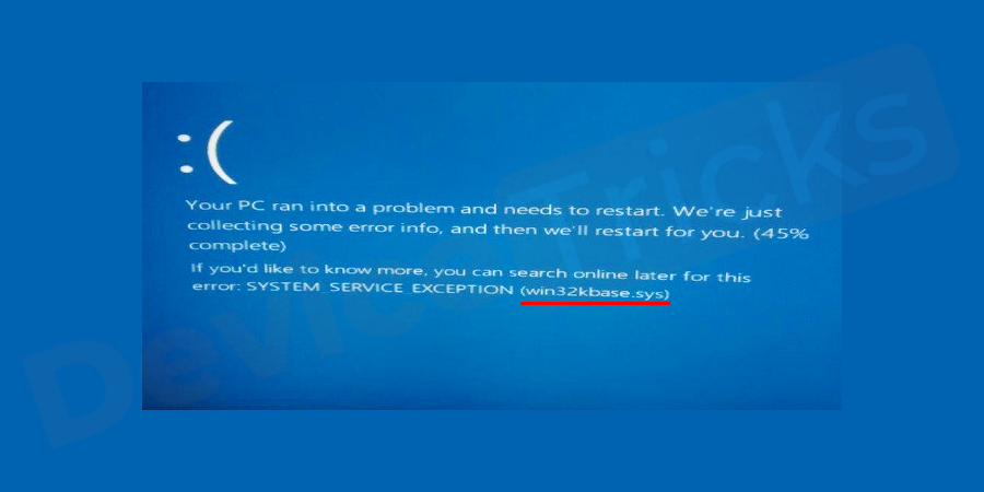 What is Win32kbase.sys Blue Screen Error?