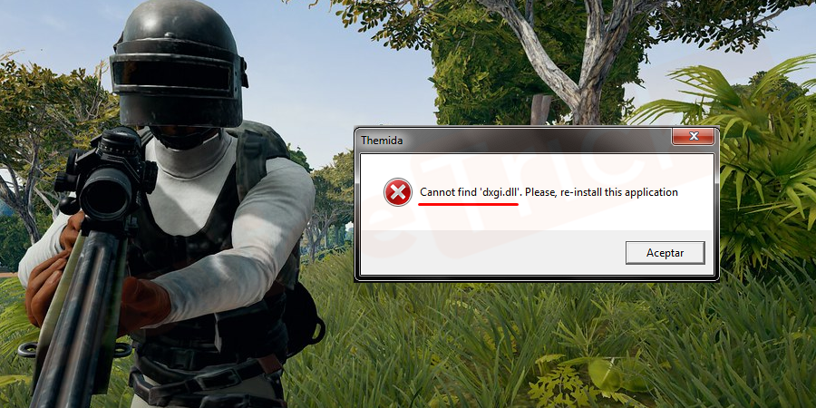 Why 'PUBG can't find dxgi.dll error' appears amid the launch of PUBG?