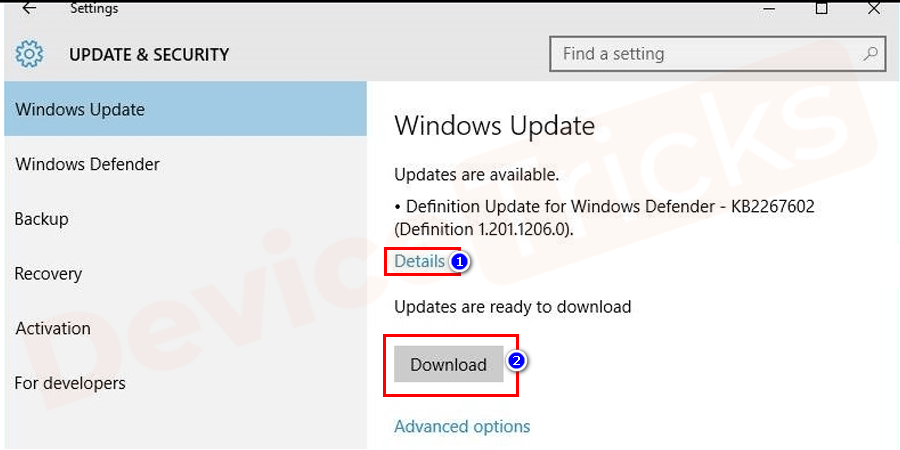 After completion of checking, you can see details option click on it to know which updates are available. Click on the download button to download and install updates into your system.