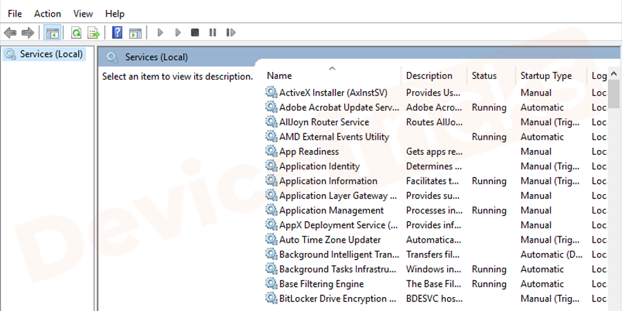 Thereafter, a new window will open and it will show the list of applications.